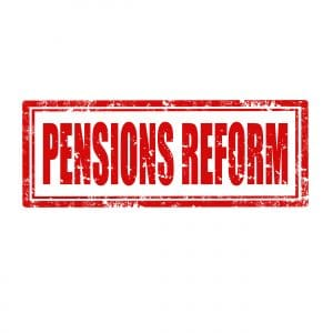 The State coffers may profit from any short-term pension reforms.