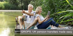 senior couple fishing having completed QROPS
